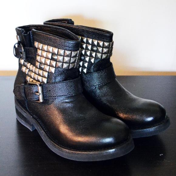 Titan Studded Biker Boots | Poshmark